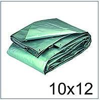 Тент 10*12 м., готовые размеры в ассортименте, плотный 120 г/м2 серебряный с УФ-защитой