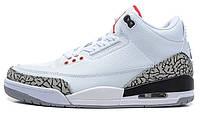 Баскетбольные кроссовки Nike Air Jordan 3 Retro (найк аир джордан ретро) белые