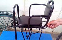 Велокресло детское на багажник.Детское велосипедное кресло металлическое,качественное