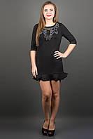 Элегантное платье КУРАЖ (черный) , фото 1