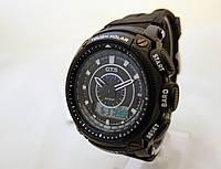 Часы мужские O.T.S. - стальной бокс, черный браслет, tough solar