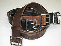 Ремень офицерский кожаный детские размеры цвет черный и коричневый