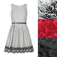 Платье хлопок с вышивкой 4 цвета