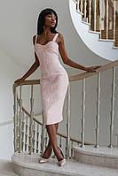 Элегантное Платье-Футляр на Лето Розовое S-XL
