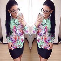 """Очень красивая модная женская рубашка """"Райские цветы"""" РАЗНЫЕ ЦВЕТА!"""