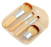 Набор 4 кистей из бамбука для минеральной косметики