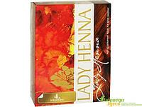 Краска для волос на основе хны Леди Хенна, Каштан. Производится из природных компонентов