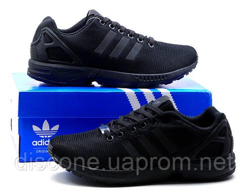 Кроссовки мужские Adidas ZX Flux Black Torsion,  черные, р. 41 42 43 44 45