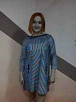 Платье женское полосатое черное