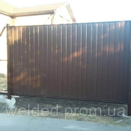Ворота откатные м житомир ворота раздвижные металлические глухие пятигорск