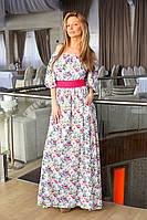 """Х8017  Платье длинное """"Цветочек"""" в расцветках"""