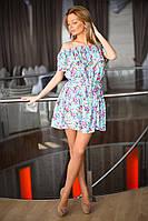 Х8012  Платье разлетайка с поясом в расцветках