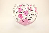Стеклянная ваза для цветов Сакура (Шарик большой - 15 х 18 х 13 см.)
