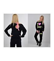 Женский Велюровый костюм Juicy C. черный  и розовый S,M,L