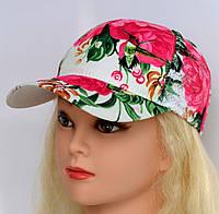 Бейсболка с кружевом. р. 54-57 (от 7 лет и старше) Розов+голуб, роз+сирень, бел+роз, девушка, стразы