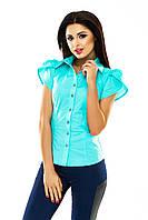 Женская летняя блузка с коротким рукавом   в Украине по низким ценам