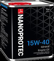 """Минеральное моторное масло """"Nanoprotec"""" Engine Oil 15W-40 (1L)"""
