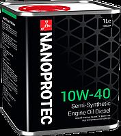 Полусинтетическое моторное масло Nanoprotec Diesel Engine Oil 10W-40 (1L)