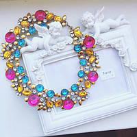Колье женское Джульетта мультицвет, ожерелье
