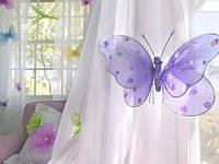 Бабочка для гардин и штор большая 20*18 см морковь