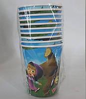 Паперові стакани  Маша і ведмідь