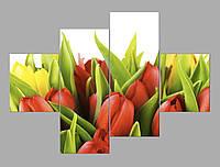 Картина из частей Тюльпаны 160*114 см Код 1-1