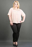 Красивая рубашка Ника ( персик), фото 1