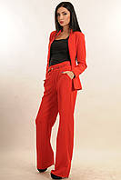Красные брюки со стрелками