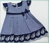 Детское летнее платье для девочки поплин