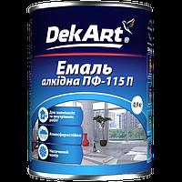 Эмаль Dekart ПФ-115П Белая глянцевая 0.9кг Полисан