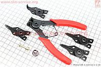 МотоСъемник для стопорных колец универсальный (4 насадки)