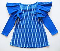 Летнее платье на девочку 4-6 лет с длинным рукавом