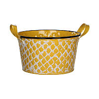 Кашпо для цветов House of seasons Jano низкий, желтый