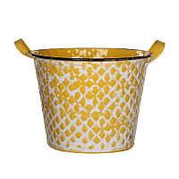 Кашпо для цветов House of seasons Jano высокий, желтый