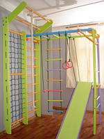 Домашний спортивный уголок Лиана цветной и комплекс Комби