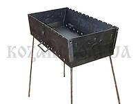 Мангал складной Турист-12 (на 12 шампуров, 610х280х170 мм, вес 9,6 кг)