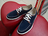 Модные мужские туфли на белой подошве из натурального нубука  МИДА 11327 синие.