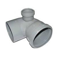 Колено сложное 110/50/90 левый вывод для внутренней канализации