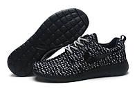 Женские кроссовки Nike Roshe Run Flyknit Turtle Black беговые оригинал