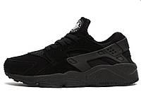 Женские кроссовки Nike Huarache All Black Suede беговые оригинал