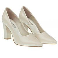 Классические туфли для стильной женщины от cobra (модные, на устойчивом каблуке, с острым носком)