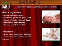 Масло массажное детское, натуральное средство для вашего ребёнка, Baby Oil, Sage Herbals Pvt. Ltd., Аюрведа Здесь