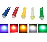 10x LED T5 лампа в автомобиль, подсветка, желтая