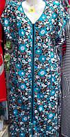 Летний женский халат с цветочным принтом