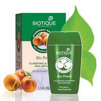 Маска-пленка для лица Биотик Био Персик для жирной и проблемной кожи, Biotique Bio Peach Clarifying and Refining Peel Off mask,