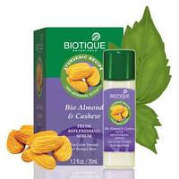 Легкая сыворотка для волос Био Кешью и Миндаль Биотик, Biotique Bio Almond and Cashew Fresh Replenishing Serum, Аюрведа Здесь