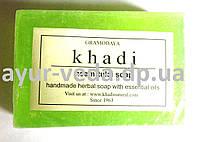 Натуральное мыло ручной работы Ним - Тулси Кхади, Khadi Handmade Herbal Soap Neem Tulsi, Аюрведа Здесь