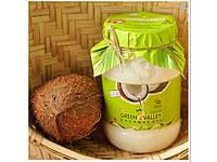 Пищевое Кокосовое масло 1,0 л в пластиковой банке Грин Велли, Green Valley, идеально для приёма в пищу, а также для волос, тела,