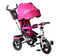 Трехколесный велосипед с поворотным сиденьем Azimut T400 Crosser розовый