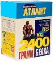 Протеин Атлант 80%+ 105 Г Креатина+45 Г Глютамина (синий) (3 кг)